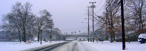 Snow scene on Long Island